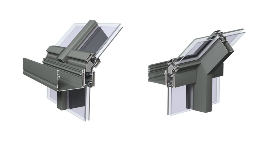 Reynaers CW 50 Roof Application and Roof Vent-1