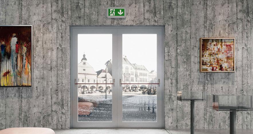 Aluminium Fire Exit Doors-1