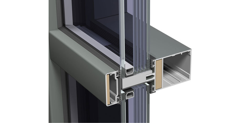 Reynaers CW 50-FP Fire Resistent Curtain Wall System-5