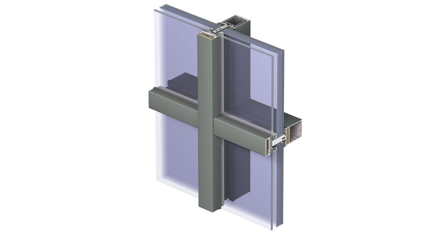 Reynaers CW 50-FP Fire Resistent Curtain Wall System-8